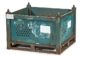 Used Metal Container-36x32x26