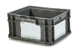Used Plastic Tote-12x15x7