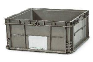 Used Plastic Tote-24x22x11