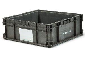 Used Plastic Tote-24x22x8