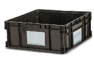 Used Plastic Tote-24x22x9