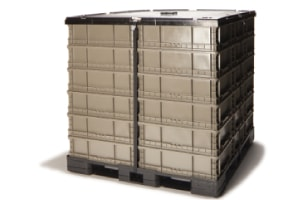 new plastic pallet with lid