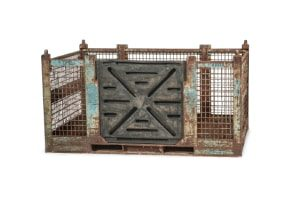 used Metal Container-74x54x38