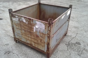Used Metal Container-40.5x36x32