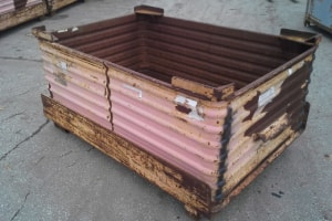 Used Metal Container-61x42x32 Drop Bottom