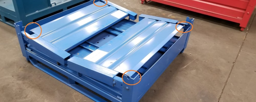 Bulk Collapsible Metal Containers