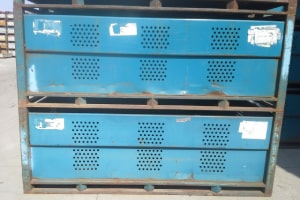 96 x 54 x 36 metal tub container